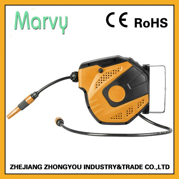 wall mounted hydraulic water hose reel 10m with PU MESH HOSE (CE&RoSH
