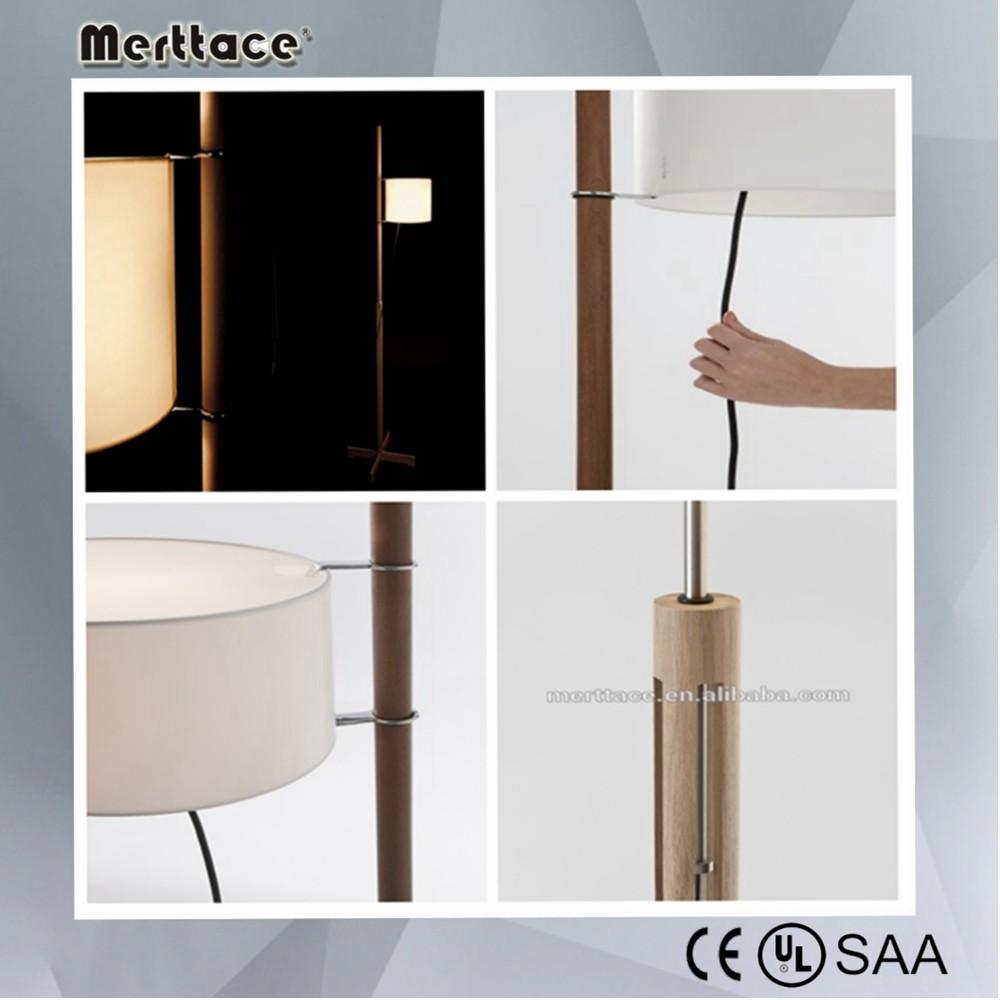 antiken design-ideen holz stoff stativ stehlampe schlafzimmer