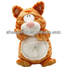 Plush Standing ginger tabby cat soft toy