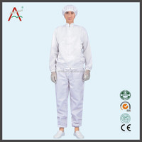 antistatic cleanroom clothes,anti-static esd clothing fabric Made in China terylene anti-static clothing