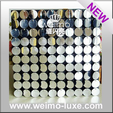 2016 Mirror Effected Silver Reflective Disc Board For Sequin Event Decoration
