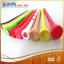 Factory Direct Wholesale Bulk 70mm Assorted Colors Wood Golf Tees