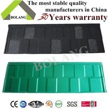 color steel roof tile stone coated steel roofing tile Green back