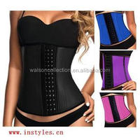 2015 instyles sexy mode high quality waist training corsets wholesale Lifting Underwear with Waist Cincher bodyshapper 100%latex