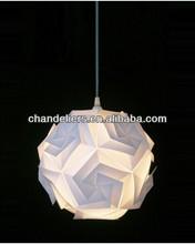 White PP ball chandelier IQ pendant light