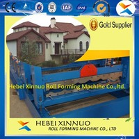 hebei xinnuo antique 1100 glazed tile roll forming machine for metal roofing tiles
