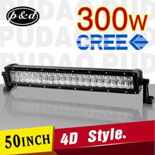 led light bar 4x4 4D design 300w Long life double rows light bar