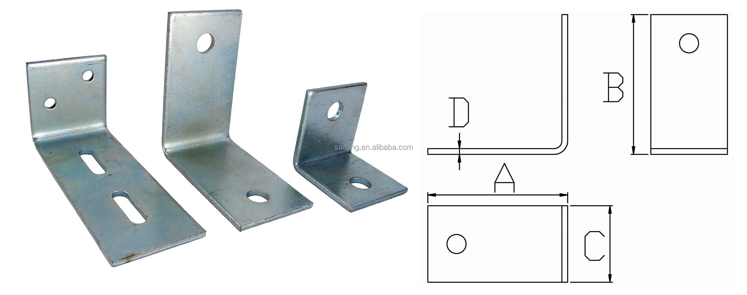 90 Degree Steel Reinforced Frame Wall Mount Angle Bracket