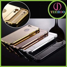 2015 hot selling mobile phone cover for iPhone 6 plus bumper and mirror back cover