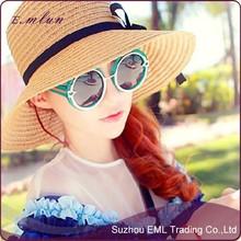 Fashion Lady Summer Beach Straw Bucket Hat
