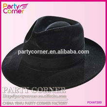Factory Price Black Fedora Hat With Band