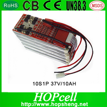 2015 Latest High-voltage lithium-polymer battery pack 36V 10A Power Tool Battery