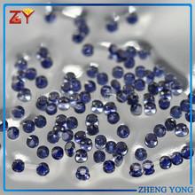 Fashion jewelry blue corundum stone round