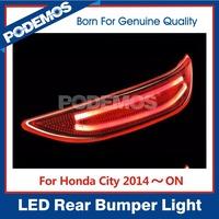 PODEMOS car tuning lights rear bumper reflector led lights led car lights for Honda City 2014~ON