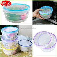 Rouond Portable Collapsible Silicone Lunch Box Container With Lock Food Storage Lunch Box For Kids