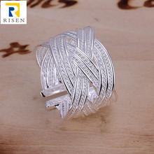 Moda argento 925, maglia argento anello aperto r024
