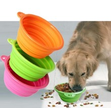 DogLemi Eco-frinendly Collapsible Pet Dog Bowls with Silicone Parts and Metal Buckle