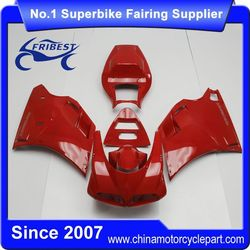 FFKDU001 China Fairings Motorcycle For 748 916 996 1998-2002 All Red With 996