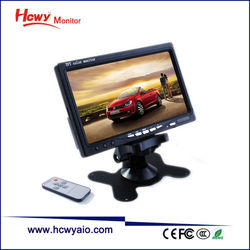 Hot 7 inches Wide Screen TFT LCD Color Monitor With RCA Input