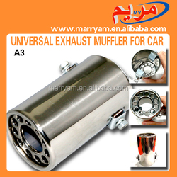 A3 Stainless steel Car Exhaust Exhaust system universal Car Exhaust universal exhaust muffler for car