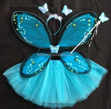 Good promotion girls fairy dresses with wings butterfly wings costume wings HSCC-1027