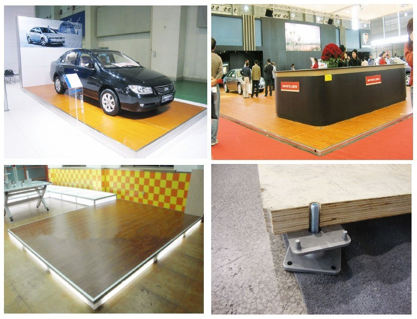 Exhibition Wooden Flooring For Booth And Stand Compatible With - Car show display flooring