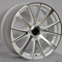 Replica black silver inch 4x108 5x114.3 alloy wheels F863174