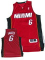 de calidad superior del club de baloncesto de miami reproductor de james 6 camisetas de baloncesto