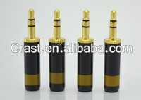 High quality Gold plated Paliccs copper 3.5mm 3 Pole Male Repair Earphones Jack Plug Connector Soldering