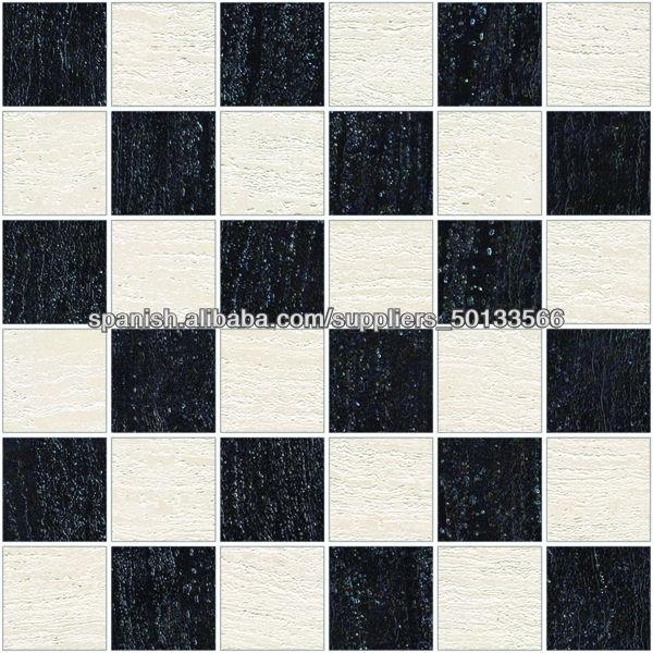 Azulejo blanco o negro? Para bao con Estilo vintage