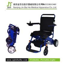 comfortable folding electric joystick wheelchair