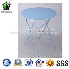 Conjunto de jardín de uso específico redonda de metal mesa de cafeteria