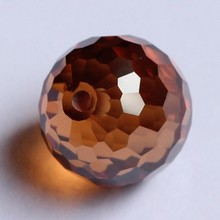 faceted brown cubic zirconia crystal balls bead loose round gems whole drill