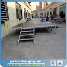 build portable stage deck wedding stage for dj lights motorized stage