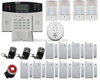 FDL-30A-16 Home Wireless GSM Alarm System Home Security Alarm System LCD Keyboard Sensor Alarm Free Shipping