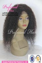 Densità pesante 180% 24'' peruviana capello umano parrucca afro arricciatura crespa per il nero donna in stock
