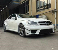 auto tuning facelift Car bumper to amg Black Series design for W204 C63 c-class FRP+carbon material