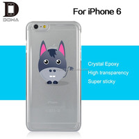 crystal clear epoxy gel pc case for iPhone 6