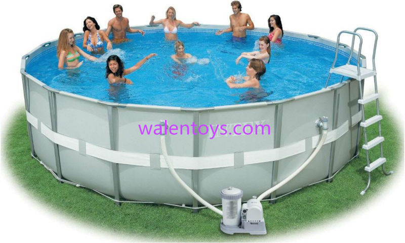 Plastic swimming pools pvc swimming pool round for Plastik pool rund