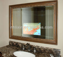 excellent glass mirror with TV with lamp master room bedroom mirror