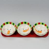 hand made ceramic christmas bowl