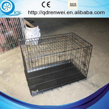 Folding Metal Dog Crate Dog Cage with plastic pan