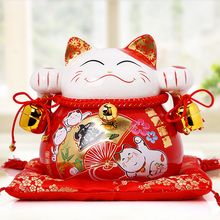 Red Lucky cat for home decors and business gits