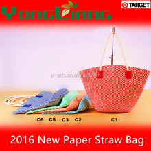 Fashion New Design Paper Straw Handbag
