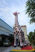 customized new style printed giant inflatable giraffe for decoration
