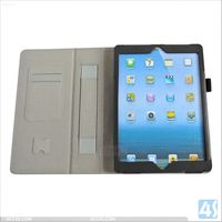 Flip case cover with stand and hand holder leather case for iPad 5 Air (5th Gen) Tablet P-IPD5CASE023