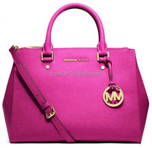 2015 MK Fashion Sutton Saffiano Leather Satchel Tote Bags Designer MK Women Brand Name Handbags Purse