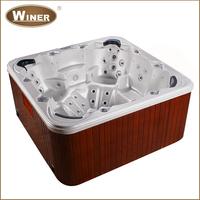 Outdoor 6 people acrylic whirlpool free standing balboa bathtub hot tubs spas bath tub with sex massage