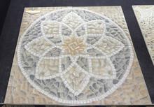400 x 400 mm exterior piso 3D de inyección de tinta flor de la impresión diseños piso azulejo