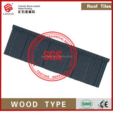 durability and colorful Arc roofing covers sheets metal roof tile(wood Type)